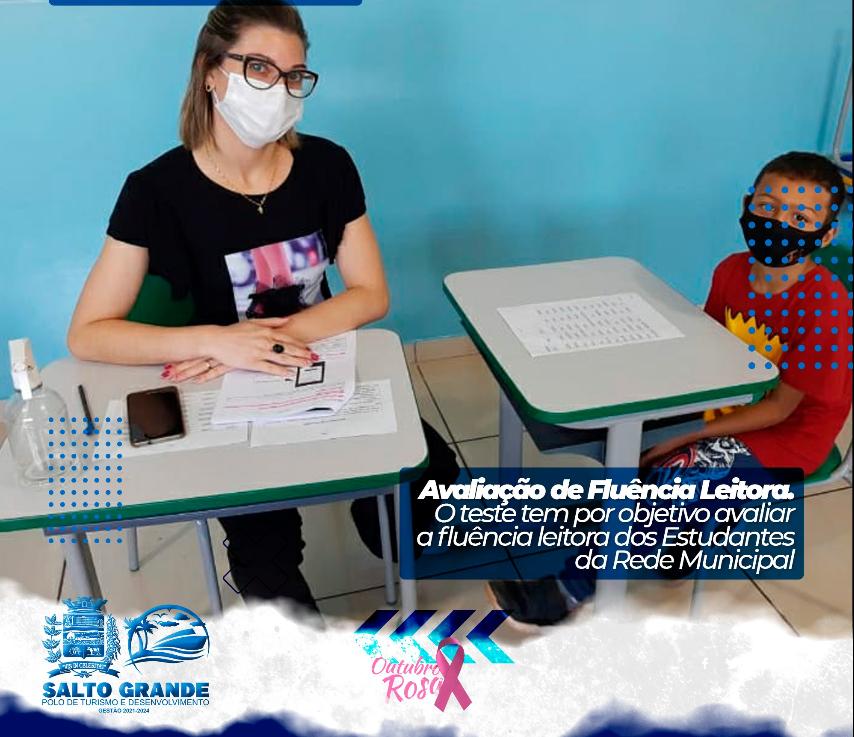 Alunos das Escolas Municipais de Salto Grande participam da Avaliação de Fluência Leitora.