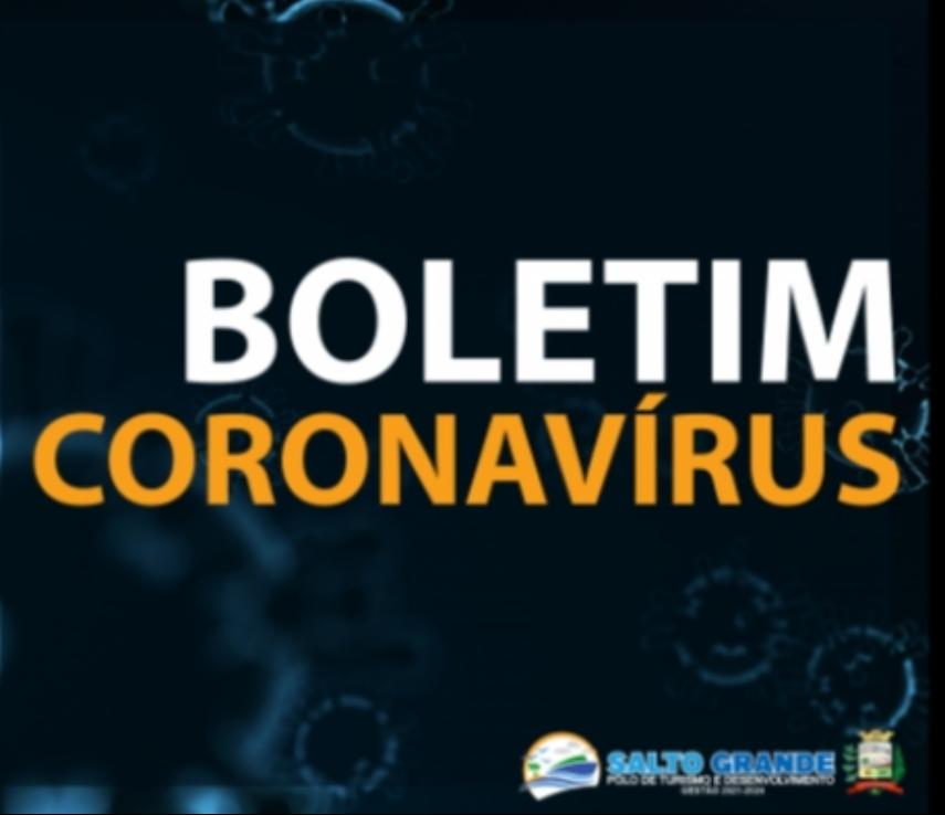 BOLETIM CORONAVÍRUS 12/01/2021 - ÀS 22H