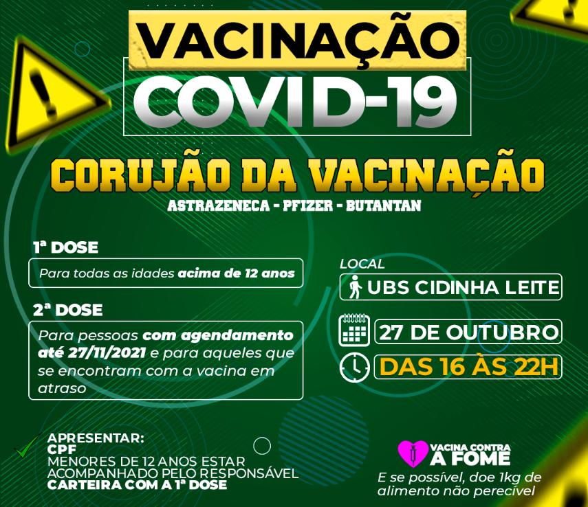 CORUJÃO DA VACINAÇÃO CONTRA A COVID-19