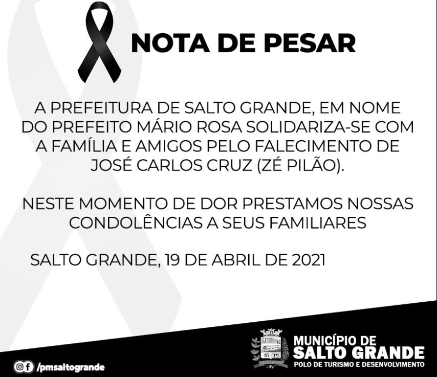 NOTA DE PESAR 19/04/2021