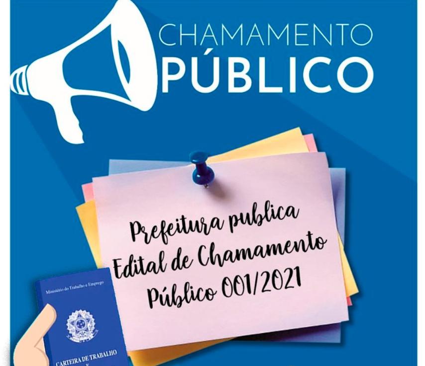 Prefeitura de Salto Grande abre vagas para contratação de acordo com o Edital de Chamamento Público 01/2021