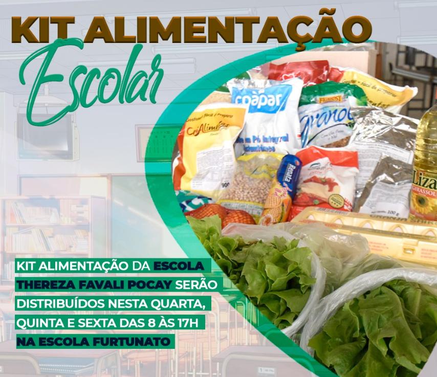 Prefeitura Municipal realiza entrega dos kits de alimentação escolar.