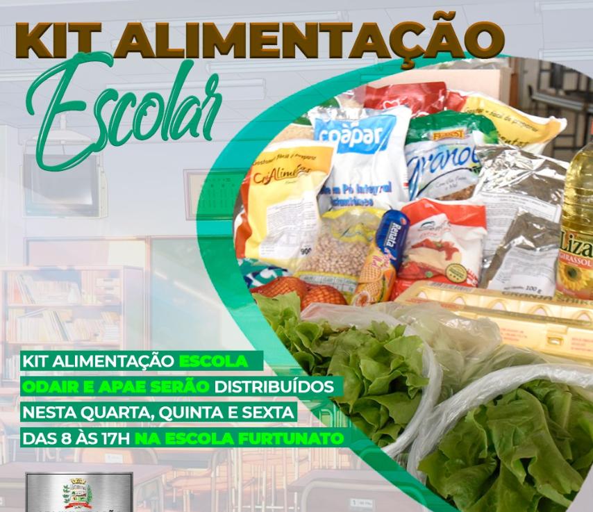 Prefeitura Municipal realiza entrega dos kits de alimentação escolar