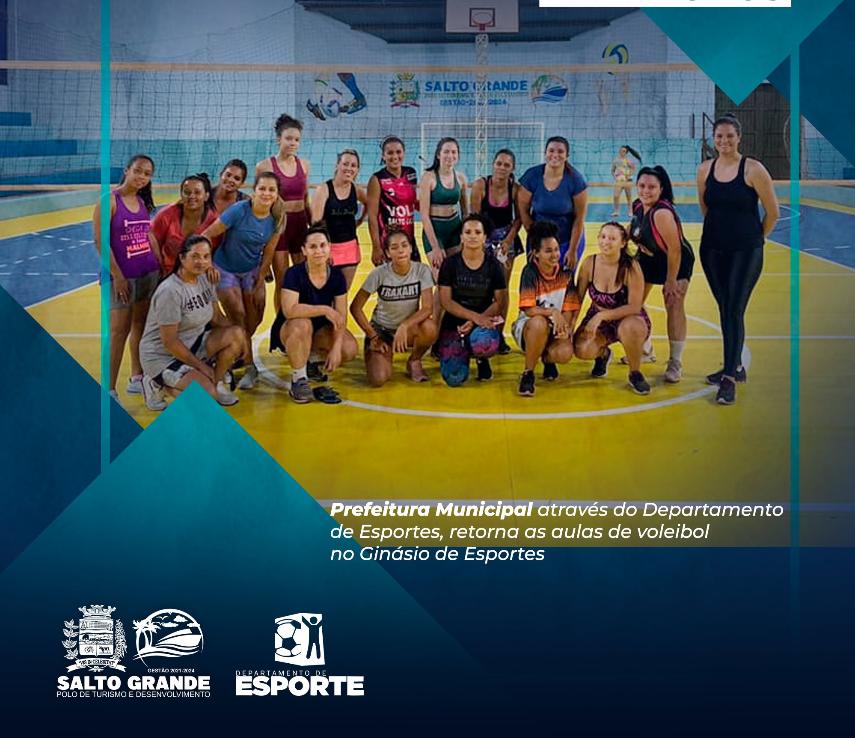Projeto Esporte para Todos de Voleibol retorna aulas no ginásio de esportes Miguel Atanes