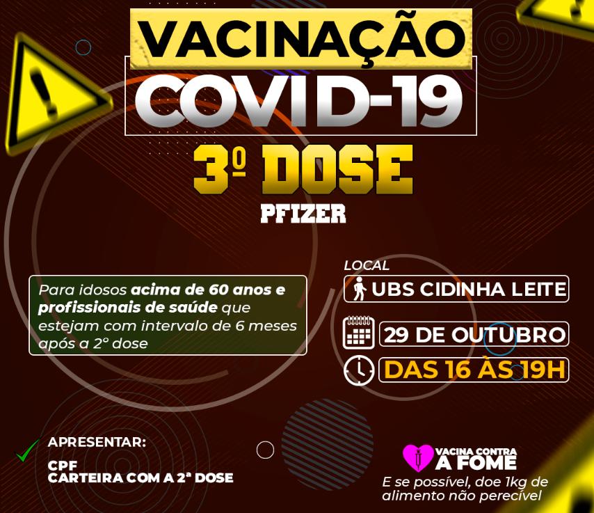 VACINAÇÃO 3º DOSE
